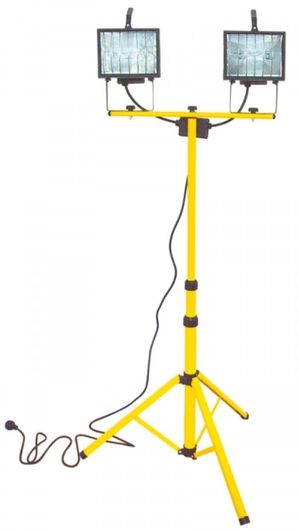 Lampa halogénová na statíve 2x400W-37603