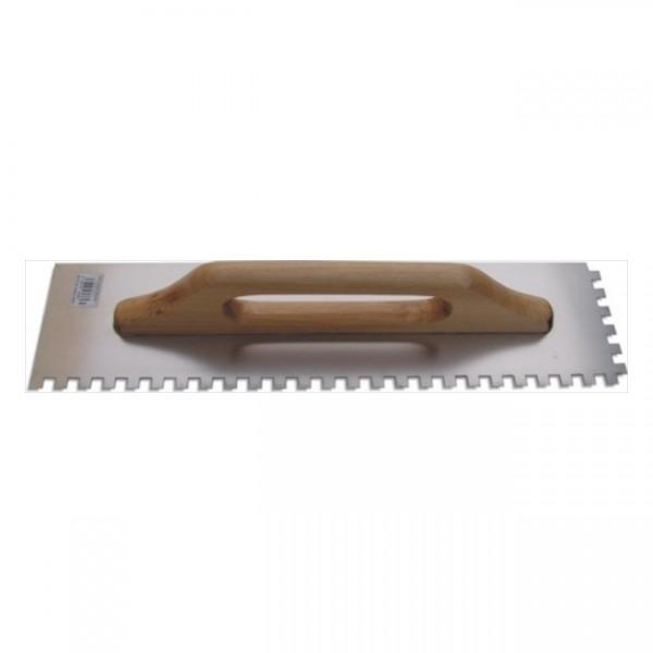 Hladítko nerez 500x130mm, zubové 10x10mm