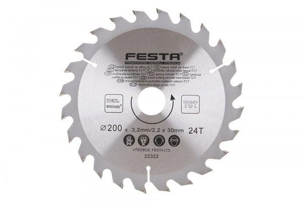 Kotúč pilový na drevo TCT 200mm/3,2/30/24