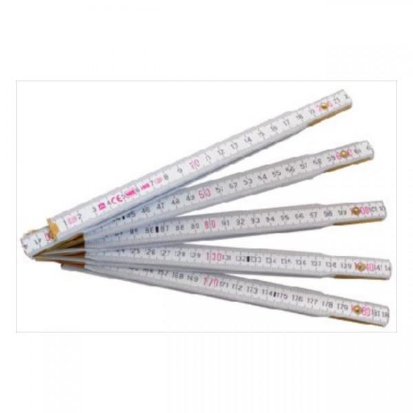 Skladací meter 2m-PROFI bieložltý,biely-13023