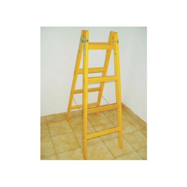 Drevený rebrík dvojitý - 4-priečkový