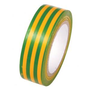 PVC páska žltá so zel.pruh.19mmx0,13mmx10m