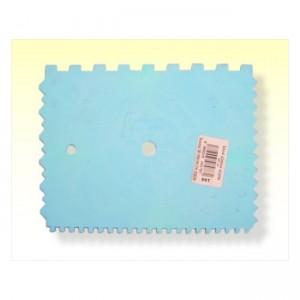 Plastová stierka, zubová 150 mm